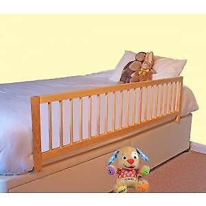 Safetots Wooden Extra Wide bedrail barrier Safety child Bed Guard Natural RETURN
