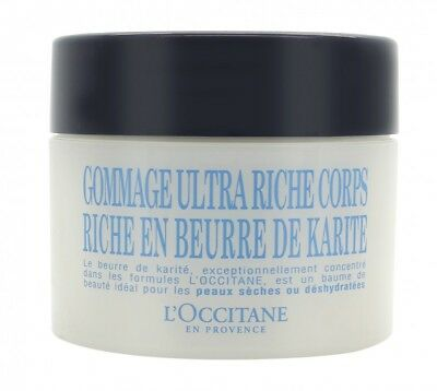 L'occitane Shea Butter Ultra Rich Body Scrub 200Ml. New. Free Shipping
