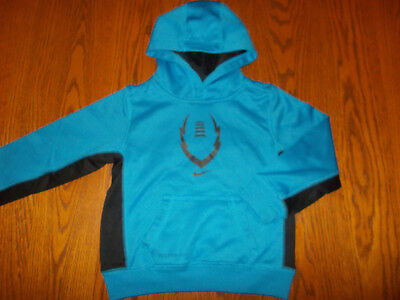 Nike Therma-Fit Blue Hooded Football Sweatshirt Boys 4T Excellent Condition