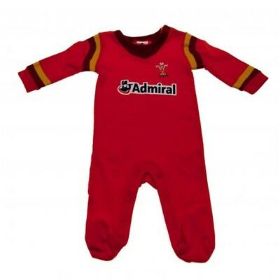 Wales Rugby Union Baby Boys' Wales Wru 2016/17 Infants Sleepsuit 12 - 18 Months