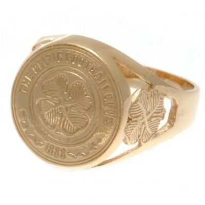Celtic F.c. 9ct Gold Crest Ring Small Official Merchandise