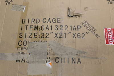 "Bird Cage GA13221AP White 32"" x 21"" x 62"""