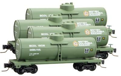 Micro-Trains MTL Z-Scale 39ft Single Dome Tank Cars BC Rail - Runner 4-Pack