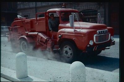 35Mm Colour Slide Mobile Vintage Foreign Road Sweeper Foreign ?