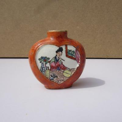 Antique / Vintage Chinese Famille Rose Snuff Bottle