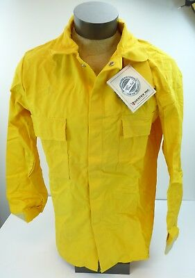 Westex Indura Ultra Soft Flame Resistant Shirt Coat Yellow Large Wildfire New