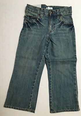 NWT Old Navy Size 4T Boys Boot Cut Denim Blue Jeans for Baby Medium Wash