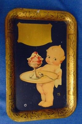 Large O'Neill Kewpie Ice Cream Stock Metal Tray Unpersonalized Baltimore As Is