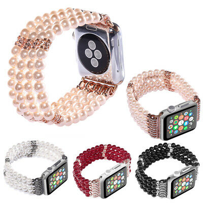 For Apple Watch Bling Pearl Beads Strap Bracelet Band For iWatch 3/2/1 42mm/38mm