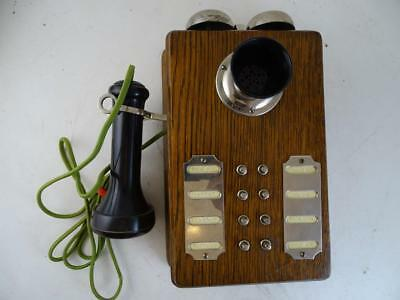 Antique Telephone Intercom Wall Mounted S.H. Couch Company Norfolk Downs Vintage