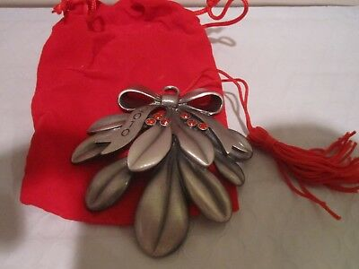 Avon Pewter MISTLETOE   Ornament 2010 with Box ~ BRAND NEW