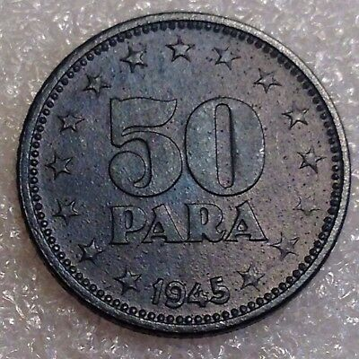 Yugoslavia 50 Para 1945 Zinc WWII. Era Great Coin