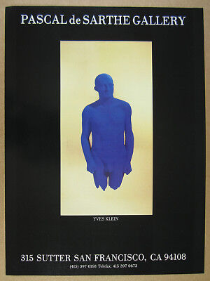 1988 Yves Klein blue portrait relief sculpture SF gallery vintage print Ad