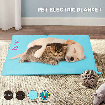 Pet Electric Heat Heated Heating Heater Pad Mat Blanket Bed Dog Cat Waterproof