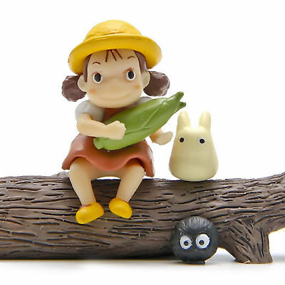 3pcs Studio Ghibli Anime My Neighbor Totoro Mini Figure Figurine Toy Gift