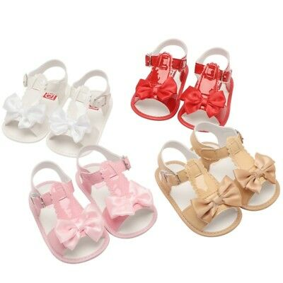 Newborn Toddler Baby Girls Solid Sandals Princess Shoes Summer Shoes 0-18Months