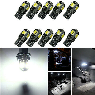 10pcs Canbus T10 194 168 W5W 5730 8 LED SMD Warm White Car Side Wedge Light Lamp