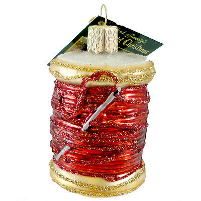 Old World Christmas SPOOL OF THREAD RED Ornament Sewing Quilting 32104 Red