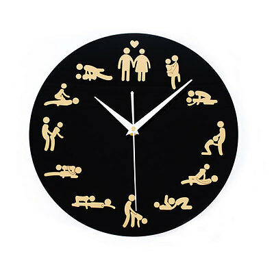 Sexual Position Clock / 24Hours Sex Clock / Novelty Adult Only Wall Clock 711HC