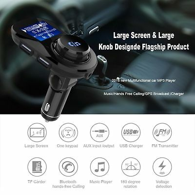 2in1 FM Transmitter 15W Fast Charger Car AUX MP3 Player Hands-free Radio Adapter