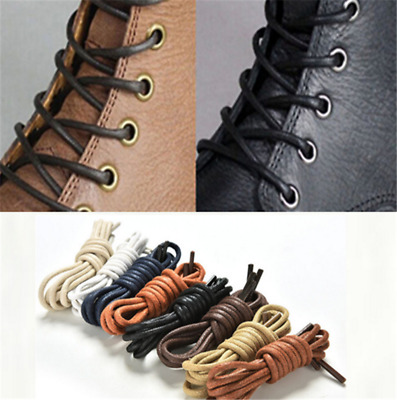 1Pair Leather Shoes String Boot Cord Round Waxed Shoelace Sport Shoe Laces Hot