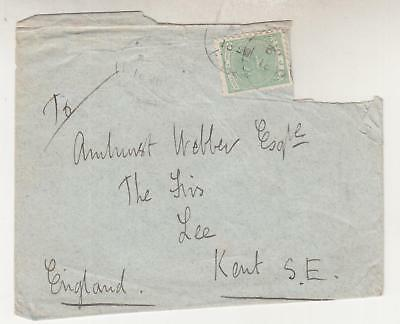 FIJI, 1890 cover, 2d. to GB, Sir Basil Thompson to GB., stamp cut out.,