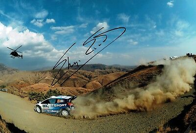 Elfyn EVANS WRC Mexico Rally Stage SIGNED AUTOGRAPH 12x8 Photo AFTAL COA