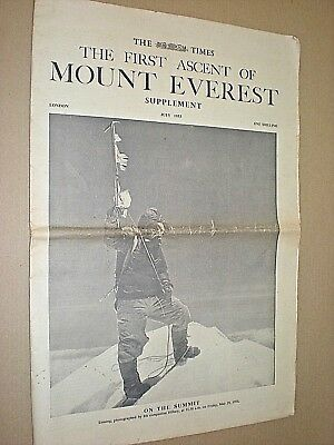 The First Ascent Of Mount Everest. The Times Supplement July 1953