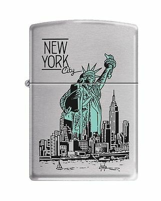 Zippo 9127, Statue of Liberty-New York City, Brushed Chrome Finish Lighter