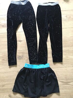 Girls Dance / Ice Skating / Gym Sparkly Leggings & Skirt Bundle. Age 7 - 8 Years