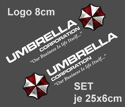Resident Evil Umbrella Corporation Sticker Auto Aufkleber Car silber Logo 35cm