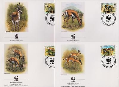Somalia 1992 World Wildlife Fund Gazelle - Deer - 4 First Day Covers - (156)