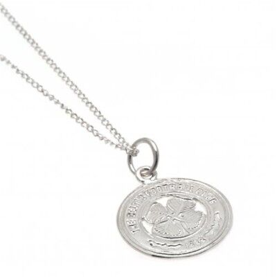 Official Football Team Gift Celtic F.c. Sterling Silver Pendant & Chain