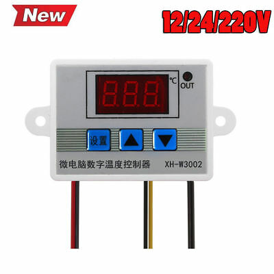 XH-W3002 12V/24V/220V Digital LED Temperature Controller Thermostat Probe Sens