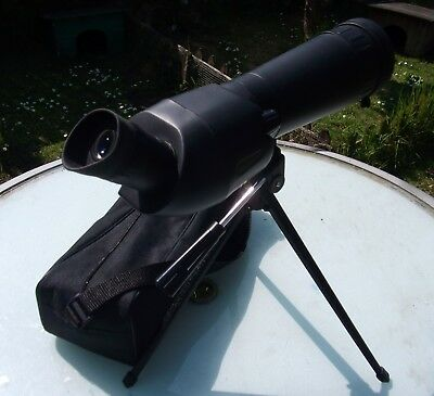 Optus 96 - 12500 20-60x60 spotting scope with single tripod and carry case