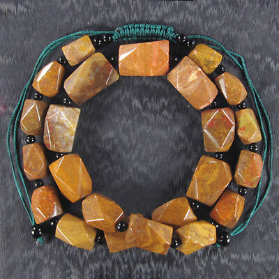 Flame Jasper Hand-crocheted Necklace BR703009