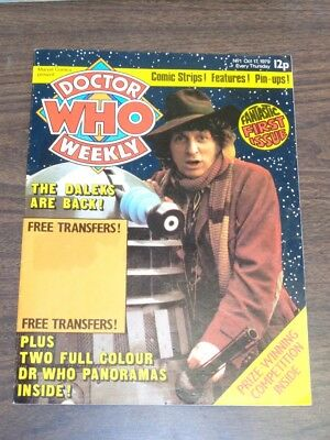 Doctor Who #1 1979 Oct 17 British Weekly Monthly Magazine Dr Who Dalek Cybermen