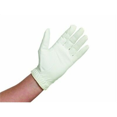 Caldene Competition Riding Glove - White, Medium - Gloves White