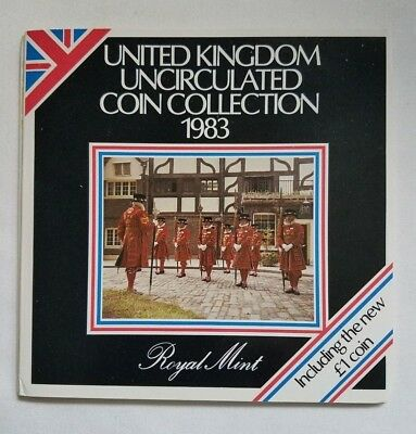 1983 United Kingdom Uncirculated Coin Collection UK Royal Mint Brilliant GEM!!
