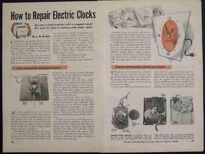 Telechron GE Electric Clock Repair / Cleaning 1954 How-To INFO