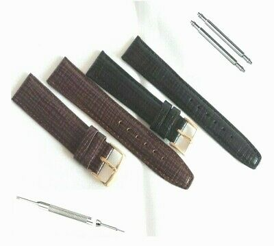 ITALIAN LUXURY CALF LEATHER WATCH STRAP 16 17 18 19 20mm OMEGA & PRESTIGE STYLE