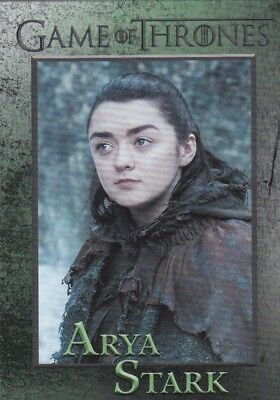 2018 Season 7 Game Of Thrones Arya Stark Trading Card #30