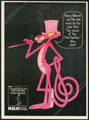 1975 Pink Panther art The Return Of movie soundtrack release print ad