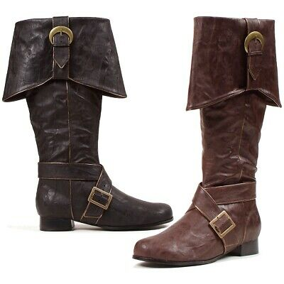 Pirate Boots Adult Mens Costume Shoes Fancy Dress