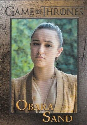 2018 Season 7 Game Of Thrones Lord Obara Sand Trading Card #54