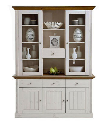 Buffet Kiefer massiv, Modell Monaco white wash/provence