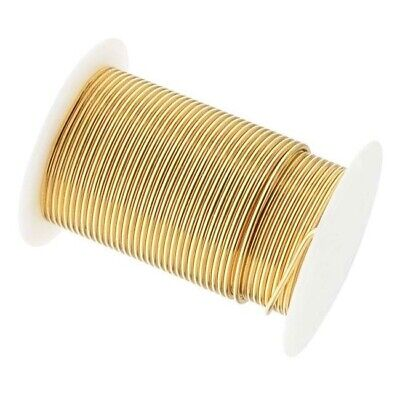 8 Yard Spool BeadSmith Tarnish Resistant GOLD 1/2 Hard 16 Gauge Wrapping Wire