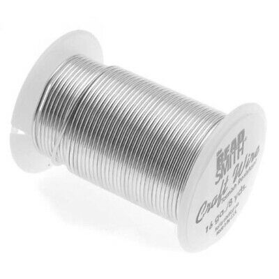 8 yard Spool BeadSmith Tarnish Resistant Silver 1/2 Hard 16 Gauge Wrapping Wire