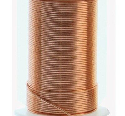 30 Yard Spool BeadSmith Tarnish Resistant Copper 24 Gauge 1/2 Hard Wrapping Wire