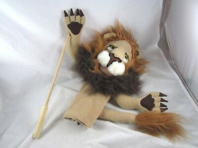 Rory The Lion Hand Puppet Melissa Doug Plush Toy With Wood